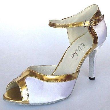 Latin Women's Sandal Customizable Heel Satin Dance Shoes (More Colors) – GBP £ 21.89