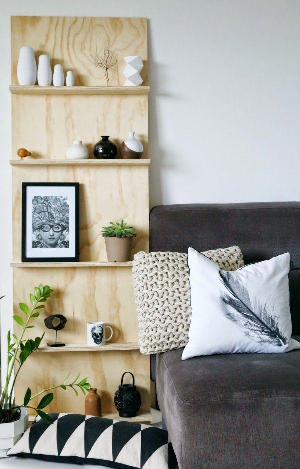 DIY plywood shelf