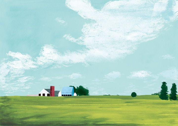 """家 """"House"""" #illustration #landscape"""