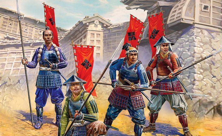 Ashigaru spearmen from the takeda clan samurai