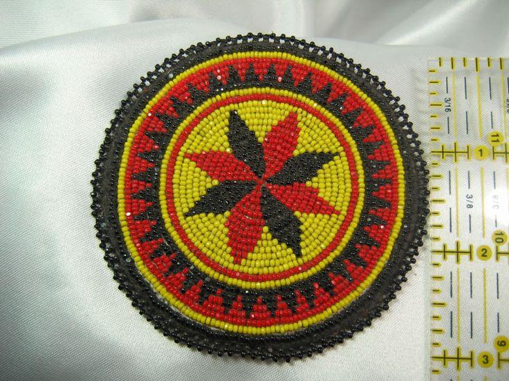 Native American Beaded Rosettes | Native American Style Beaded Rosettes