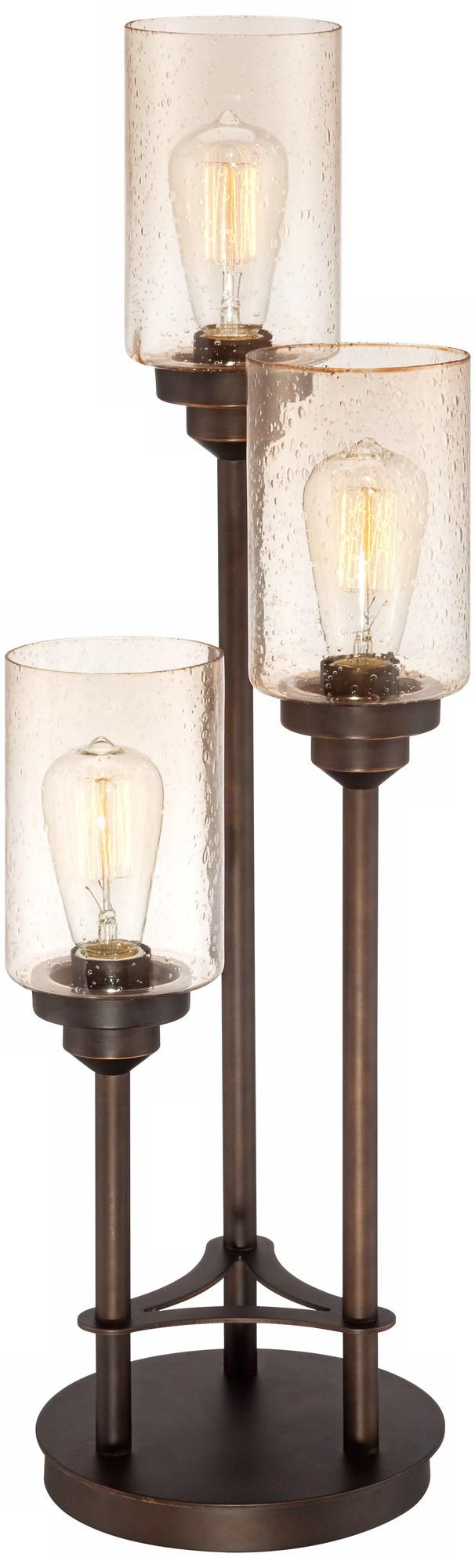 Libby 3-Light  Industrial Console Lamp with Edison Bulbs                                                                                                                                                                                 More