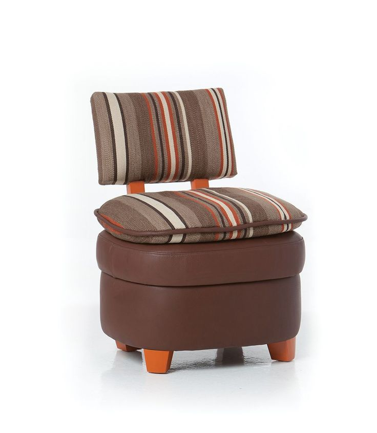 Native American Kidney Shaped Buffalo Leather Chair. Most Modern, With A  Round Base