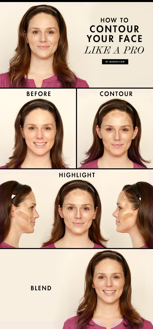 Learn how to contour your face like a pro! // #contour