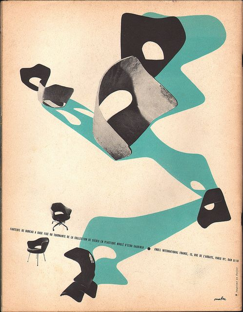 Herbert Matter Knoll ad, L'ŒIL magazine 1956 | Flickr - Photo Sharing!