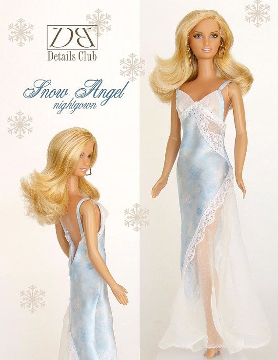Sewing pattern for 11 1/2 doll Barbie Snow Angel by DBDollPatterns, $7.00