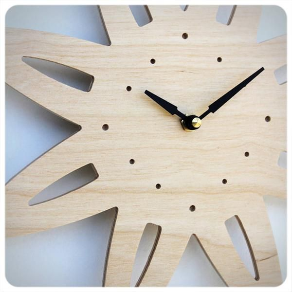 A modern take on a traditional mantel clock - inspired by Danish modern furniture design.