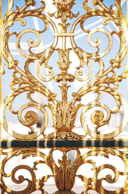 Real Eyes, Realize, Real Lies. metal architecture flourishing filigree Versailles , Palais