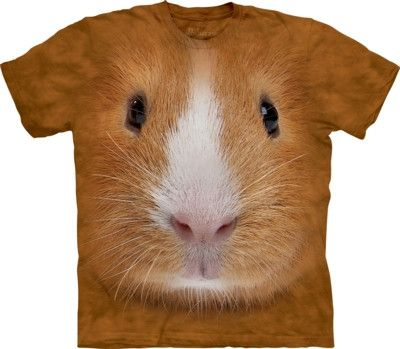 Guinea Pig Big Face Pet T Shirt by the Mountain from yourgifthouse