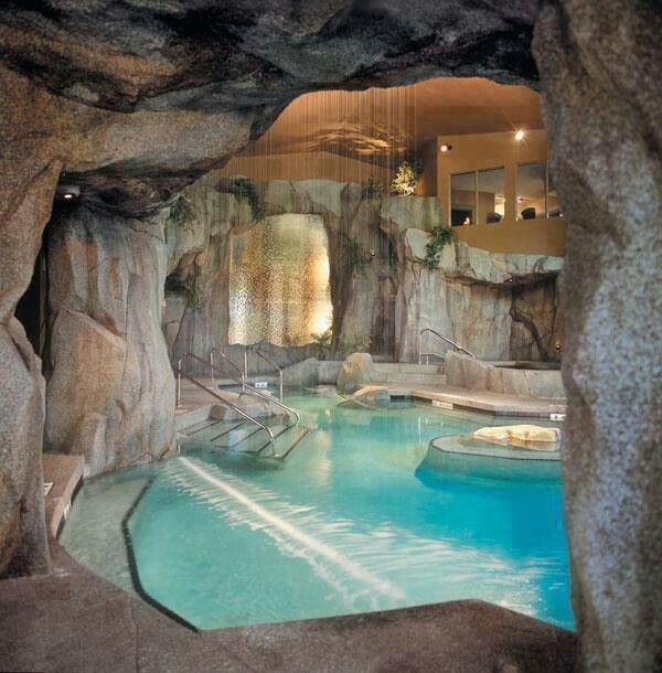 Beautiful indoor home pool