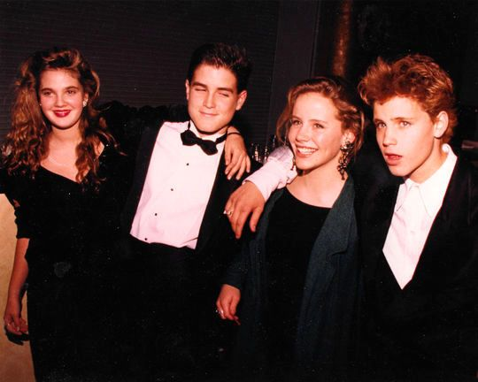Drew Barrymore, Trey Ames, Amanda Peterson, and Corey Haim || 1987