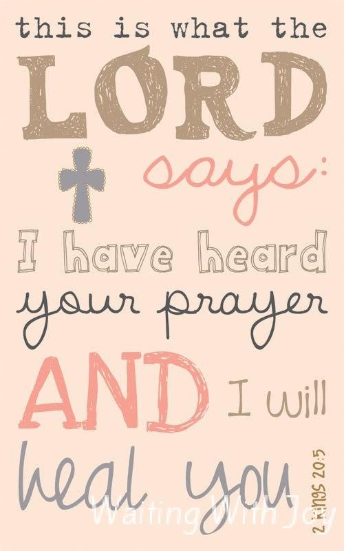 Prayer for Healing Quotes   Sickness Has Taken Over!! - Waiting With Joy