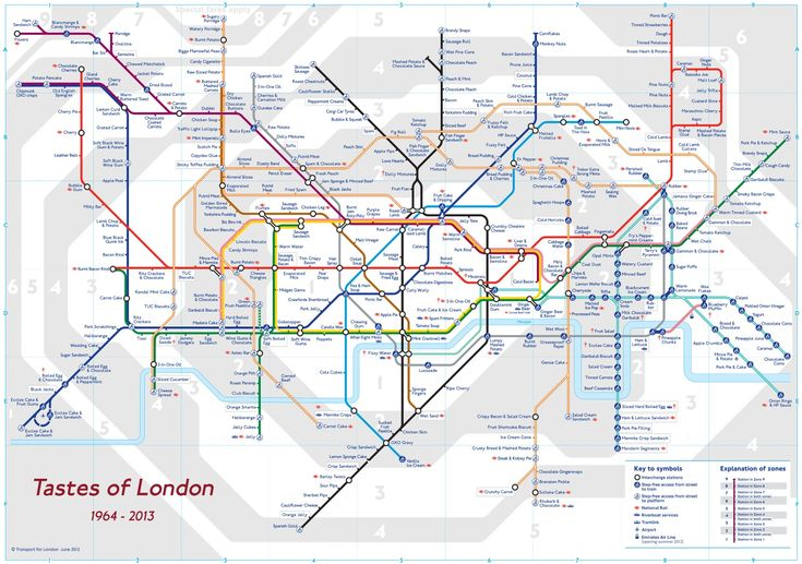 Tastes of London - a synaesthesia map of the Underground by James Wannerton.