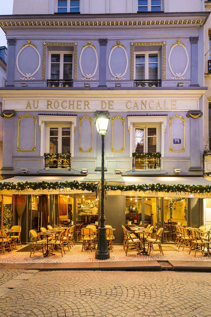 Cafe au lait kitchen decor - Paris Cafe Au Rocher De Cancale A Wintery View Of A Classic Paris Cafe On French Kitchen Decorfrench