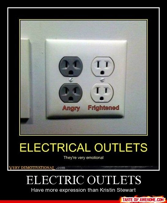 So true. XD: Facials Expressions, Faces, Electrician Humor, Electric Outlets, Emotional Outlets, Kristin Stewart, Funny Stuff, Funny Kristen Stewart, Angry Outlets