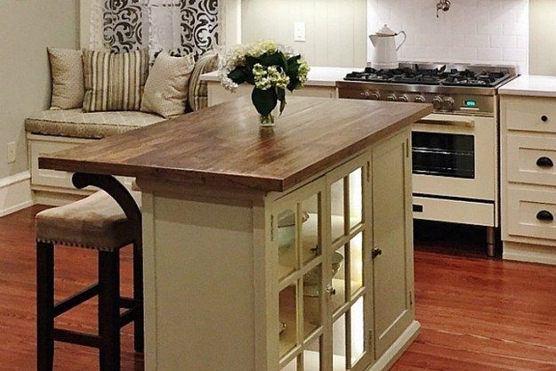 Turn an old bureau into a chic kitchen island. | 13 Ways To Upcycle Furniture You Already Have