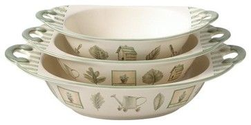 naturewood | Pfaltzgraff Naturewood Oval Bowl - Set of 3 - contemporary - serveware ...