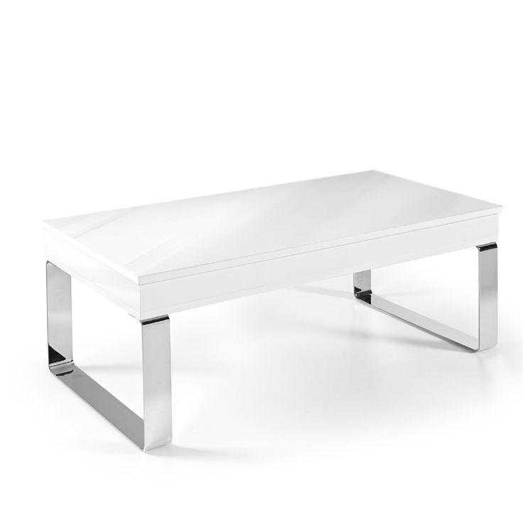 Mesa elevable Luga lacado brillo - 135,50 €
