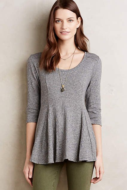Heathered Peplum Tee