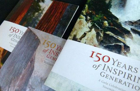 Our print materials for @Yosemite Conservancy's Yosemite: 150 Years of Inspiring Generations Gala are featured on @PaperSpecs - Sabine Lenz - Sabine Lenz! #nonprofit #design #invitations