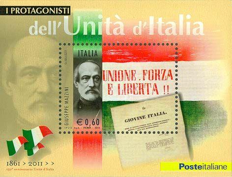 2011 - 150º anniversario dell'unità d'Italia - I protagonisti dell'unità d'Italia - Giuseppe Mazzini