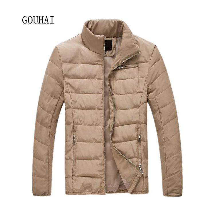 Solid Casual Winter Jacket Men 2017 New Fashion Parka Men Stand Collar Plus Size Mens Winter Parkas M-5XL 6XL High Quality