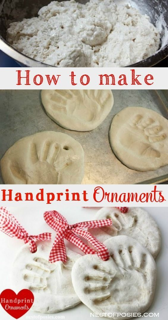 How to make Handprint Ornaments.  Great gift for the grandparents by sue.son.33