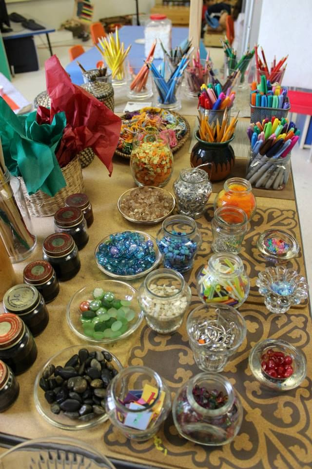 Inside one of the classrooms - beautiful variety of loose parts