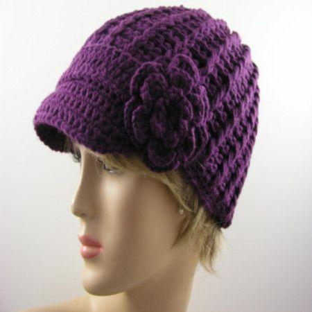 Free Crochet Pattern For Beanie With Bill : 17 beste afbeeldingen over crochet op Pinterest - Gratis ...