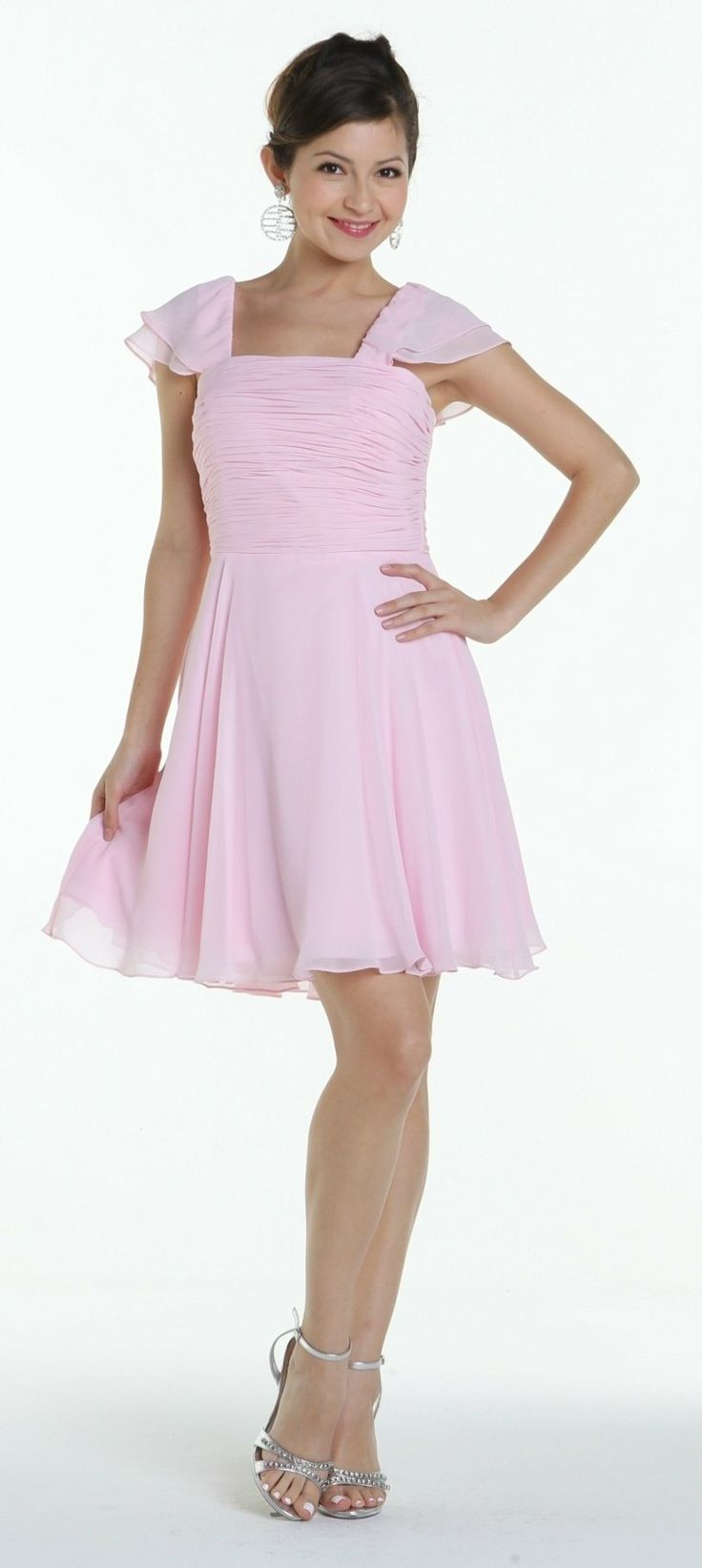 25 cute pink bridesmaid gown colours ideas on pinterest pink on special limited stock short sleeve pink bridesmaid dress knee length square neck ombrellifo Choice Image