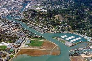 San Rafael California Canal Area ....you can see our place in this picture... and Pickleweed Park!