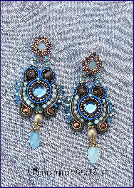 Blue and Mint Soutache earrings | Flickr - Photo Sharing!