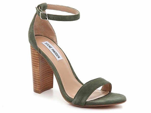 Slide Sandals | DSW | Green shoes heels