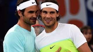 Image copyright                  Getty Images                  Image caption                                      Entre Roger Federer y Rafael Nadal han ganado 31 títulos de Grand Slam.                                En el circuito profesional del tenis, después de los Grand Slams está, en orden de importancia, el torneo de Maestros (ATP World Tour Finals), q