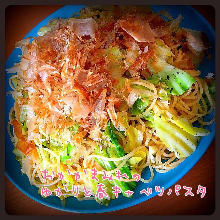 Tomoko Ito's dish photo 花ふわりまみれのゆかりと春キャベツのパスタ | http://snapdish.co #SnapDish #レシピ