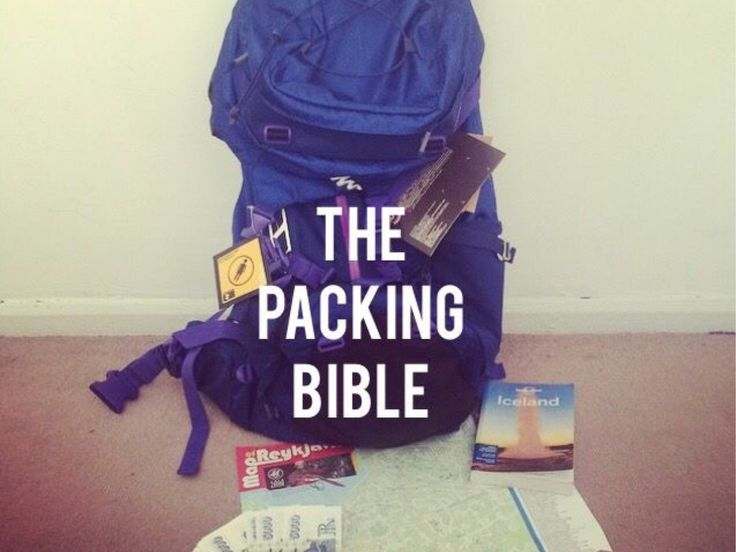 PACKING BIBLE - A must read for first time backpackers/travellers.
