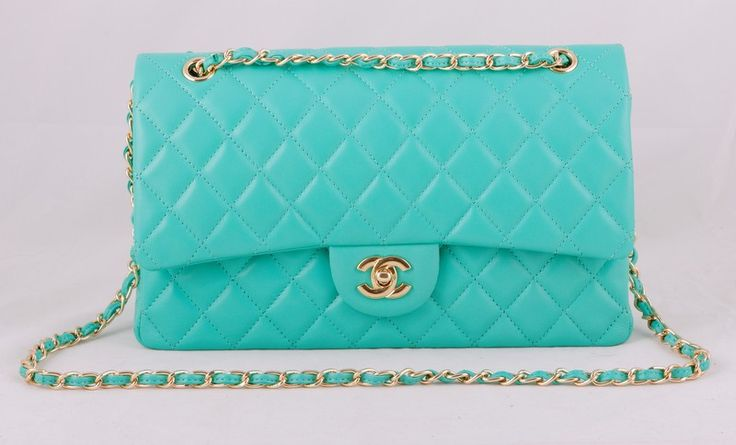 Сумка CHANEL Classic Flap Bag бирюзовая