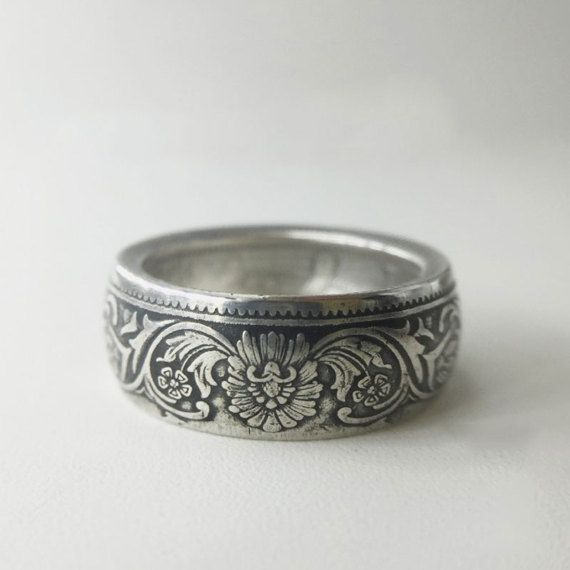 One Rupee Sliver Coin Ring Queen Victoria Coin Ring by BespokePro