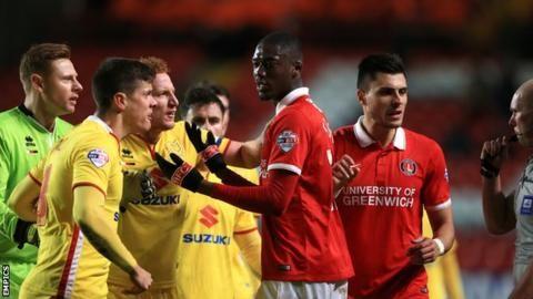 Charlton v MK Dons: Yaya Sanogo 'should be banned for season' - Robinson