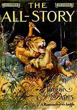 Copertina della rivista pulp All Story (ottobre 1912), debutto di Tarzan nella letteratura.