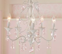 Pink Kids Room Chandelier