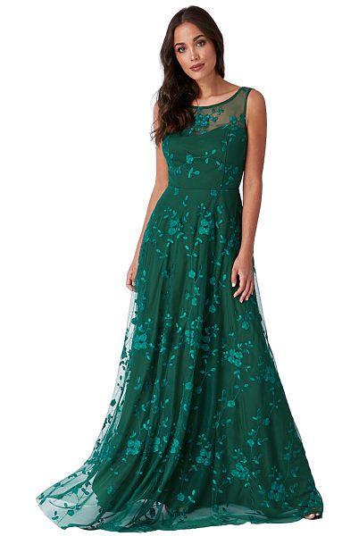 ebf372e19e3b Zelené společenské šaty City Goddess Camel