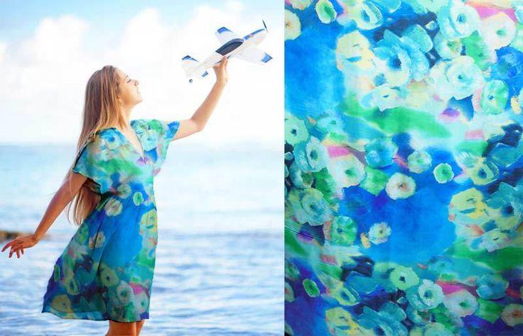 Ucuz Mavi çiçekler muhteşem 100% saf ipek baskılı ipek şifon kumaş 6 momme terzilik için metre ile NPC 30122, Satın Kalite kumaş doğrudan Çin Tedarikçilerden:  bu SeeThrough güzel yaratabilir çok farklı tarzı elbiseler bu güzel ipek şifon kumaşürün kodu:NPC 30122Renk