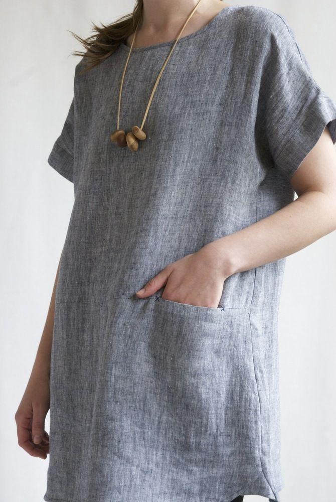 Image of Jane Pocket Dress - Indigo