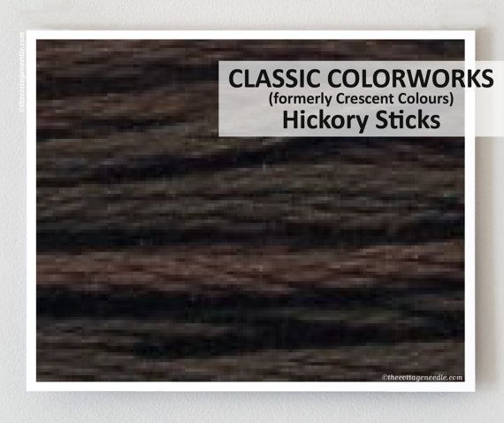 HICKORY STICKS  : Classic Colorworks 6-strand embroidery floss hand-dyed overdyed thread  cross stitchThe Cottage Needle by thecottageneedle