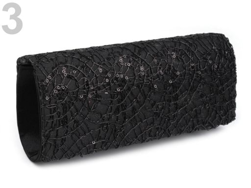 Kabelka - psaníčko 10x24 cm s flitry