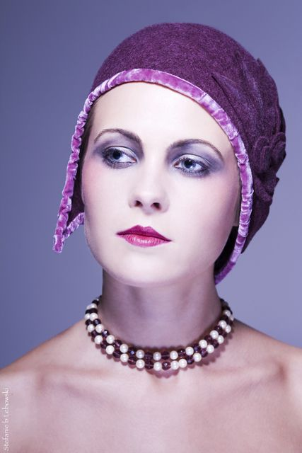 """I'm a Flapper!"" Clohe hat... Mademoiselle Slassi (Paris)."