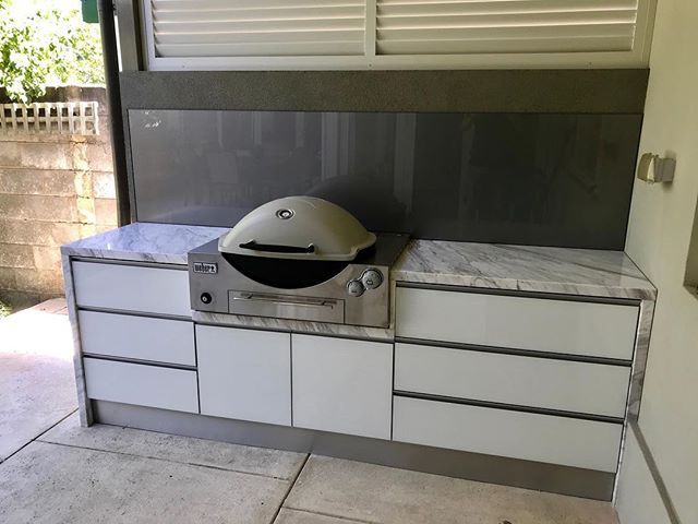 And Another Kitchen Installed By The Outdoor Chef Using The Weber Family Q Built In Bbq Pe Outdoor Kitchen Appliances Modular Outdoor Kitchens Outdoor Kitchen