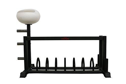 Crossfit-Training-Bar-and-Bumper-Storage-Rack-w-Chalk-Bowl-Gym-Fitness-Wod-New
