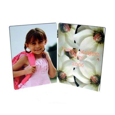 """Hinged Hardboard PhotoPanel $30.99  This item is great for Weddings, Engagements, graduations,  any special life events you want to last forever the best-cherished memories. Hinged Hardboard Photo Panel 5"""" x 7"""" x .25Imprint with the special person on one side and the group photo on the other and create a keepsake."""